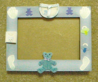 Hand-Decorated Custom Baby Picture Frames by Dana