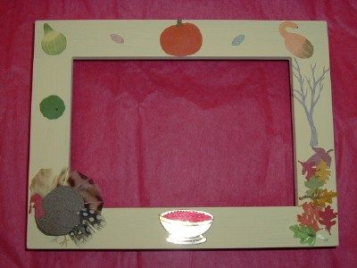 Hand-Decorated Custom Thanksgiving Picture Frames by Dana