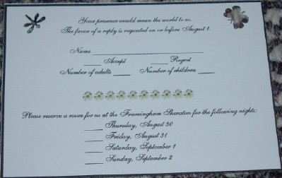the rsvp card - Rsvp Card Examples